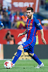 Leo Messi of FC Barcelona during the match of  Copa del Rey (King's Cup) Final between Deportivo Alaves and FC Barcelona at Vicente Calderon Stadium in Madrid, May 27, 2017. Spain.. (ALTERPHOTOS/Rodrigo Jimenez)