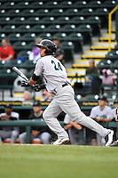 Jupiter Hammerheads second baseman Noah Perio (24) during a game against the Bradenton Marauders on April 19, 2014 at McKechnie Field in Bradenton, Florida.  Bradenton defeated Jupiter 4-0.  (Mike Janes/Four Seam Images)