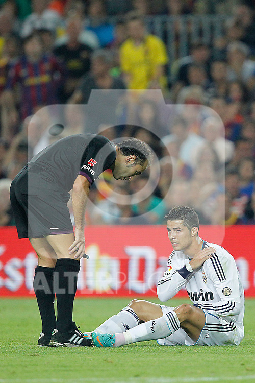 Real Madrid's Cristiano Ronaldo during la Liga match on october 7th 2012. ..Photo: Cesar Cebola  / ALFAQUI