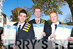 Paul O'Riordan, Simon McCarthy and Stephen Nicholson  who Graduated in  zat the IT Tralee Graduations at the  Brandon hotel, Tralee on Friday.   Copyright Kerry's Eye 2008