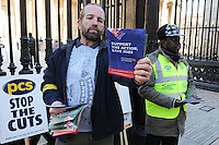 PCS National Strike. 8-3-10 The picket line at the British Museum.