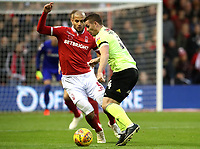 Nottingham Forest's Adlene Guedioura and Sheffield United's John Fleck<br /> <br /> Photographer Rachel Holborn/CameraSport<br /> <br /> The EFL Sky Bet Championship - Nottingham Forest v Sheffield United - Saturday 3rd November 2018 - The City Ground - Nottingham<br /> <br /> World Copyright &copy; 2018 CameraSport. All rights reserved. 43 Linden Ave. Countesthorpe. Leicester. England. LE8 5PG - Tel: +44 (0) 116 277 4147 - admin@camerasport.com - www.camerasport.com