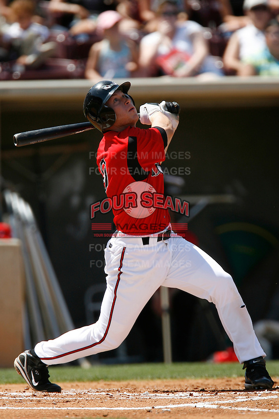 Matt Antonelli of the Lake Elsinore Storm during a California League baseball game on April 29, 2007 at The Diamond in Lake Elsinore, California. (Larry Goren/Four Seam Images)
