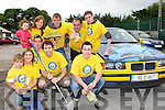 Volunteers who held a charity car wash in aid of the Bee for Battens charity in Flynn's garage on Monday Front row l-r: Dylan Flynn, Fiona O'Connor, Emmet Ashe, Shaun O'Connor, Gary Flynn. Back row: Kaylagh O'Connor, Clodagh Brosnan, Eoghan O'Connor, Kieran Flynn and Fergal O'Connor
