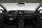 Stock photo of straight dashboard view of 2017 Hyundai i30 Luxury-Launch-Edition 5 Door Hatchback Dashboard