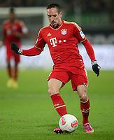 FUSSBALL   1. BUNDESLIGA   SAISON 2012/2013    22. SPIELTAG VfL Wolfsburg - FC Bayern Muenchen                       15.02.2013 Franck Ribery (FC Bayern Muenchen) Einzelaktion am Ball