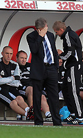 Pictured: A disappointed Roy Hodgson manager for West Bromwich Albion. Saturday 17 September 2011<br /> Re: Premiership football Swansea City FC v West Bromwich Albion at the Liberty Stadium, south Wales.