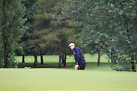Tiernan McLarnon (Massereene) on the 2nd during round 1 of The Mullingar Scratch Cup in Mullingar Golf Club on Sunday 3rd August 2014.<br /> Picture:  Thos Caffrey / www.golffile.ie