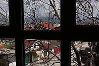 "Serbia. Vranje is a city and the administrative center of the Pčinja District in southern Serbia. View on the town from a window of « Jovan Jovanović Zmaj » Elementary School. The Pestalozzi Children's Foundation (Stiftung Kinderdorf Pestalozzi) is advocating access to high quality education for underprivileged children. It supports in Vranje a project called "" Education for child rights"" .17.4.2018 © 2018 Didier Ruef for the Pestalozzi Children's Foundation"