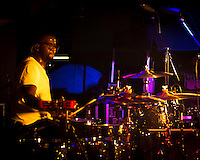De'Mar Hamilton, drummer of the Plain White T's, in  concert in Yokosuka Japan