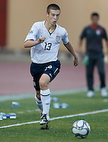 Dominick Sarle controls the ball. US Under-17 Men's National Team defeated United Arab Emirates 1-0 at Gateway International  Stadium in Ijebu-Ode, Nigeria on November 1, 2009.