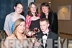 CHEERS: Having a good night at the Kerry Farmers Hunt Club Gala Ball on Saturday night were front l-r: Zoe Grattage and Mikey Ryle (Tralee). Back l-r: Siobha?n Sayers (Tralee), Katie McDonnell (Dingle) and Claire Fester (Tralee).   Copyright Kerry's Eye 2008