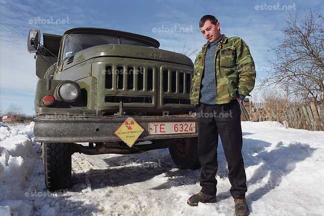 Belarus/Weissrussland, 2005/03/23<br /> KOLSCHITCHI. A driver who provides special services in the radioactive contaminated Chernobyl zone in Belarus.<br /> ? Vaclav Vasku/EST&amp;OST