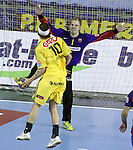 Velux EHF Champions League (day 3),Spain, Barcelona FC Barcelona Intersport beat 36-24 IK Savehof at Palau Blaugrana. Picture show Victor Friden and Johan Sjostrand