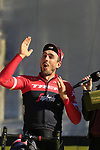 John Degenkolb (GER) Trek-Segafredo team on stage at sign on before the 101st edition of the Tour of Flanders 2017 running 261km from Antwerp to Oudenaarde, Flanders, Belgium. 26th March 2017.<br /> Picture: Eoin Clarke | Cyclefile<br /> <br /> <br /> All photos usage must carry mandatory copyright credit (&copy; Cyclefile | Eoin Clarke)