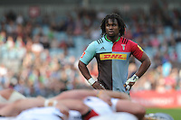 Marland Yarde of Harlequins during the Aviva Premiership match between Harlequins and Exeter Chiefs at The Twickenham Stoop on Saturday 7th May 2016 (Photo: Rob Munro/Stewart Communications)