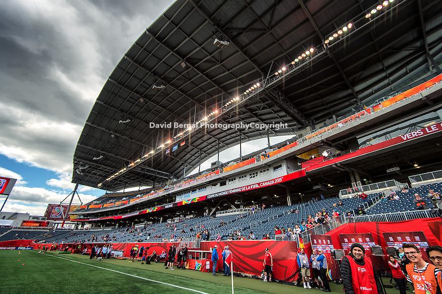 WINNIPEG, MANITOBA, CANADA - June 15, 2015: The Woman's World Cup Thailand vs Germany match at the Winnipeg Stadium . Final score, Thailand 0, Germany 4.