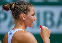 Paris, France, 02 June, 2018, Tennis, French Open, Roland Garros, Karolina Pliskova (CZE)<br /> Photo: Henk Koster/tennisimages.com