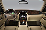 Straight dashboard view of a 2008 Jaguar XJ Sedan