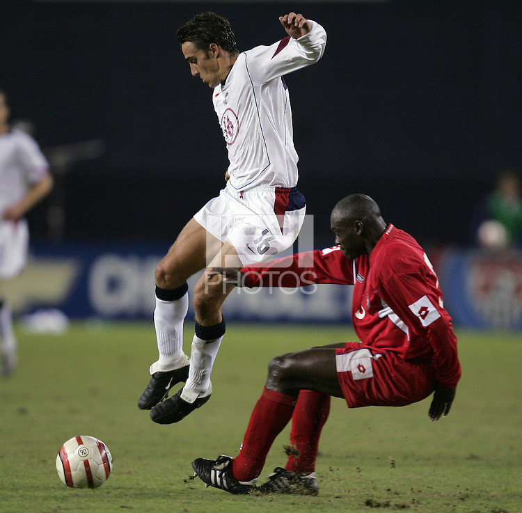 Josh Wolff, left, Jose Anthony Torres, right, Panama vs USA, World Cup qualifier at RFK Stadium, 2004.