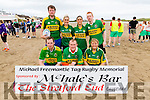 Pictured at the Michael Freemantle Tag Rugby Memorial on Sunday at Cashen Strand, was Front Row L-R: David Doyle, Abbeydorney, Damien Casey, Eimer O'Mahony, Ballyheigue.<br /> Back Row: Kevon O'Mahony, Ballyheigue, Jackie O'Carroll, Maria O'Carroll, Causeway, John McDonald, Ballyheigue.