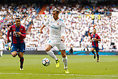 9th September 2017, Santiago Bernabeu, Madrid, Spain; La Liga football, Real Madrid versus Levante; Gareth Bale (11) of Real Madrid with the ball