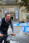 Chris Boardman previewing the course before the Men Elite Individual Time Trial of the UCI World Championships 2019 running 54km from Northallerton to Harrogate, England. 25th September 2019.<br /> Picture: Andy Brady | Cyclefile<br /> <br /> All photos usage must carry mandatory copyright credit (© Cyclefile | Andy Brady)