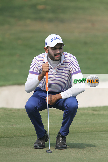 Abhijit Singh Chadha (IND) on the 16th during Round 3 of the 2013 Avantha Masters, Jaypee Greens Golf Club, Greater Noida, Delhi, 16/3/13..(Photo Jenny Matthews/www.golffile.ie)