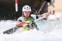 Daniel Watkins, Australia, C1 Oceania Canoe Slalom Championships, Whero Whitewater Park, Auckland, New Zealand, 1st February 2020. Photo: Simon Watts/www.bwmedia.co.nz