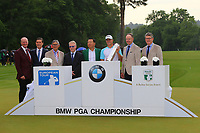 Alex Noren and dignitaries during the BMW PGA Golf Championship at Wentworth Golf Course, Wentworth Drive, Virginia Water, England on 28 May 2017. Photo by Steve McCarthy/PRiME Media Images.