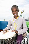Eugene Nguessan at the Féile Fáilte festival on Banna Beach on Saturday. Dance performances and Music of welcome