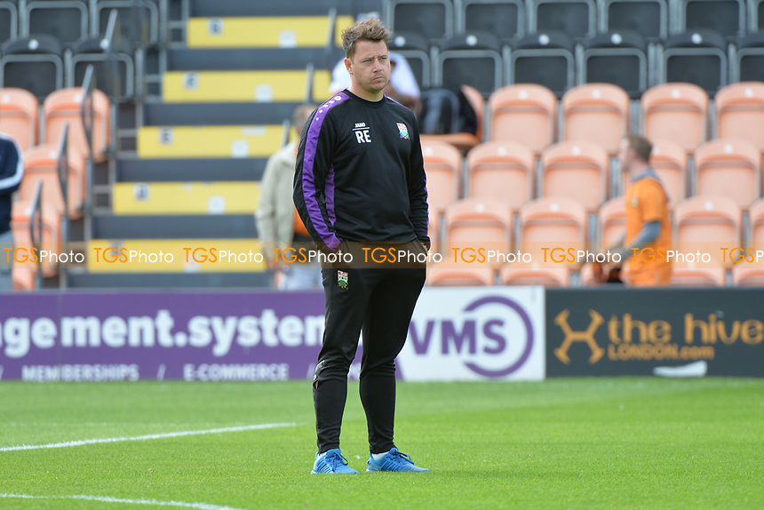 Barnet manager Rossi Eames looks on during Barnet vs Luton Town, Sky Bet EFL League 2 Football at the Hive Stadium on 12th August 2017