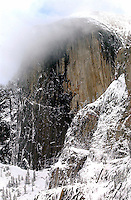 20060817 -- .Michael McCollum.Iconic Half Dome in winter in Yosemite Valley in California, seen yearly by millions of visitors to Yosemite National Park.