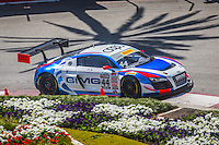 Brent Holden, #44 Audi R8 LMS Ultra, Pirelli World challenge race, Long Beach Grand Prix, Long Beach, CA, April 2015.  (Photo by Brian Cleary/ www.bcpix.com )