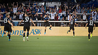 SAN JOSE,  - AUGUST 31: Magnus Eriksson #7 of the San Jose Earthquakes celebrates his goal during a game between Orlando City SC and San Jose Earthquakes at Avaya Stadium on September 1, 2019 in San Jose, .
