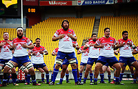 Horowhenua Kapiti performs a haka before the Heartland Championship rugby match between Horowhenua Kapiti and Wairarapa Bush at Westpac Stadium in Wellington, New Zealand on Sunday, 1 October 2017. Photo: Dave Lintott / lintottphoto.co.nz