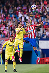 Jose Maria Gimenez de Vargas of Atletico de Madrid (R) in action during the La Liga match between Atletico de Madrid vs Villarreal CF at the Estadio Vicente Calderon on 25 April 2017 in Madrid, Spain. Photo by Diego Gonzalez Souto / Power Sport Images