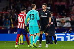 XXX of Atletico de Madrid and XXX of Athletic Club de Bilbao during the La Liga match between Atletico de Madrid and Athletic Club de Bilbao at Wanda Metropolitano Stadium in Madrid, Spain. October 26, 2019. (ALTERPHOTOS/A. Perez Meca)