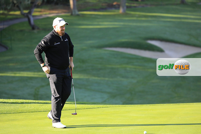 Shane Lowry (IRL) during the first round of the AT&amp;T Pro-Am, Pebble Beach Golf Links, Monterey, California, USA. 07/02/2019<br /> Picture: Golffile | Phil Inglis<br /> <br /> <br /> All photo usage must carry mandatory copyright credit (&copy; Golffile | Phil Inglis)