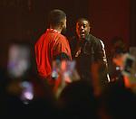 MIAMI BEACH, FL - JUNE 20: Rapper NAV aka Navraj Goraya and Travmbb (R) perform during 'The Bad Habits Tour' at Fillmore Miami Beach at the Jackie Gleason Theater  on June 20, 2019 in Miami Beach, Florida. ( Photo by Johnny Louis / jlnphotography.com )