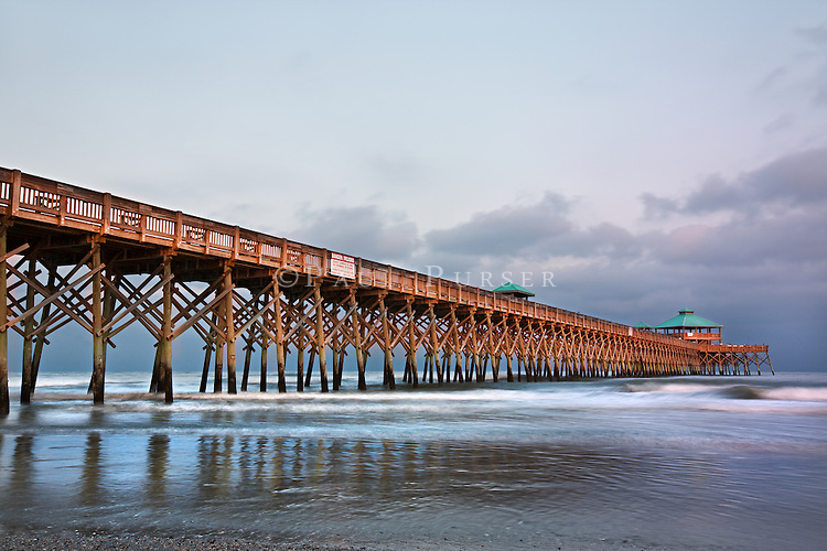 The Pier At Folly Beach South Carolina Sunset Makes For A Great Photo