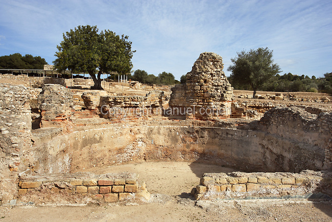 The Frigidarium; Villa of El Munts; I Century AD, Tarragona (Tarraco, Hispania Citerior), Catalonia, Spain; one of the largest built on a hill overlooking the coast, only 12 km from Tarragona (Tarraco). © Manuel Cohen