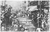 A fireman's hose race in Cripple Creek.<br /> Cripple Creek, CO  1896