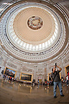 Visitors tour the rotunda of the U.S. Capitol in Washington, D.C.