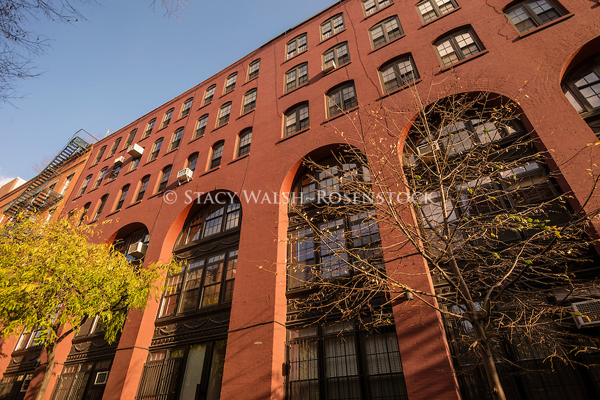 New York, NY 20 November 2014 A former factory converted to residential lofts in the Soho neighborhood of Manhattan.