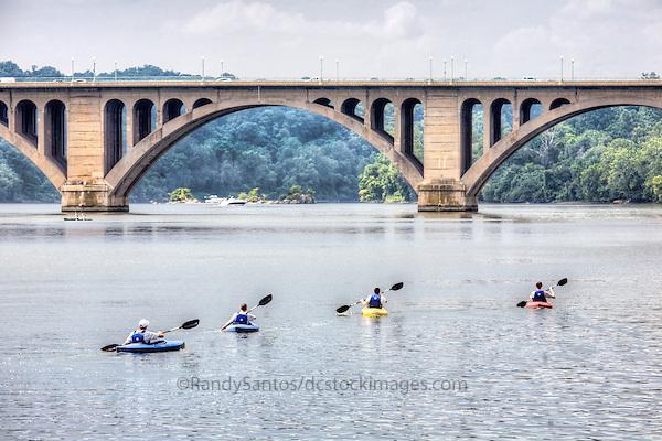 Georgetown Key Bridge Potomac River Washington DC