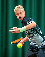 Wateringen, The Netherlands, December 8,  2019, De Rhijenhof , NOJK juniors 14 and18 years, Finals boys 14 years Lars Wagenaar (NED)<br /> Photo: www.tennisimages.com/Henk Koster