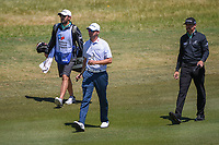 Sean O'Hair (USA) and Jimmy Walker (USA) approach the green on 2 during Round 4 of the Valero Texas Open, AT&amp;T Oaks Course, TPC San Antonio, San Antonio, Texas, USA. 4/22/2018.<br /> Picture: Golffile | Ken Murray<br /> <br /> <br /> All photo usage must carry mandatory copyright credit (&copy; Golffile | Ken Murray)