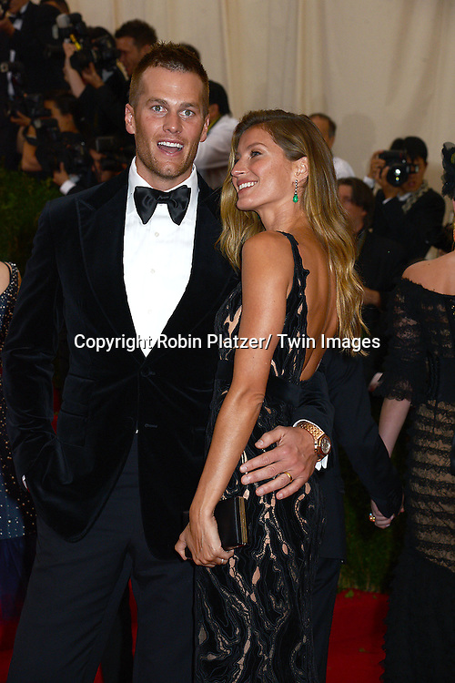 Tom Brady and Gisele Bundchen attends the Costume Institute Benefit on May 5, 2014 at the Metropolitan Museum of Art in New York City, NY, USA. The gala celebrated the opening of Charles James: Beyond Fashion and the new Anna Wintour Costume Center.