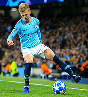 Manchester City's Oleksandr Zinchenko<br /> <br /> Photographer Alex Dodd/CameraSport<br /> <br /> UEFA Champions League Group F - Manchester City v Shakhtar Donetsk - Wednesday 7th November 2018 - City of Manchester Stadium - Manchester<br />  <br /> World Copyright &copy; 2018 CameraSport. All rights reserved. 43 Linden Ave. Countesthorpe. Leicester. England. LE8 5PG - Tel: +44 (0) 116 277 4147 - admin@camerasport.com - www.camerasport.com